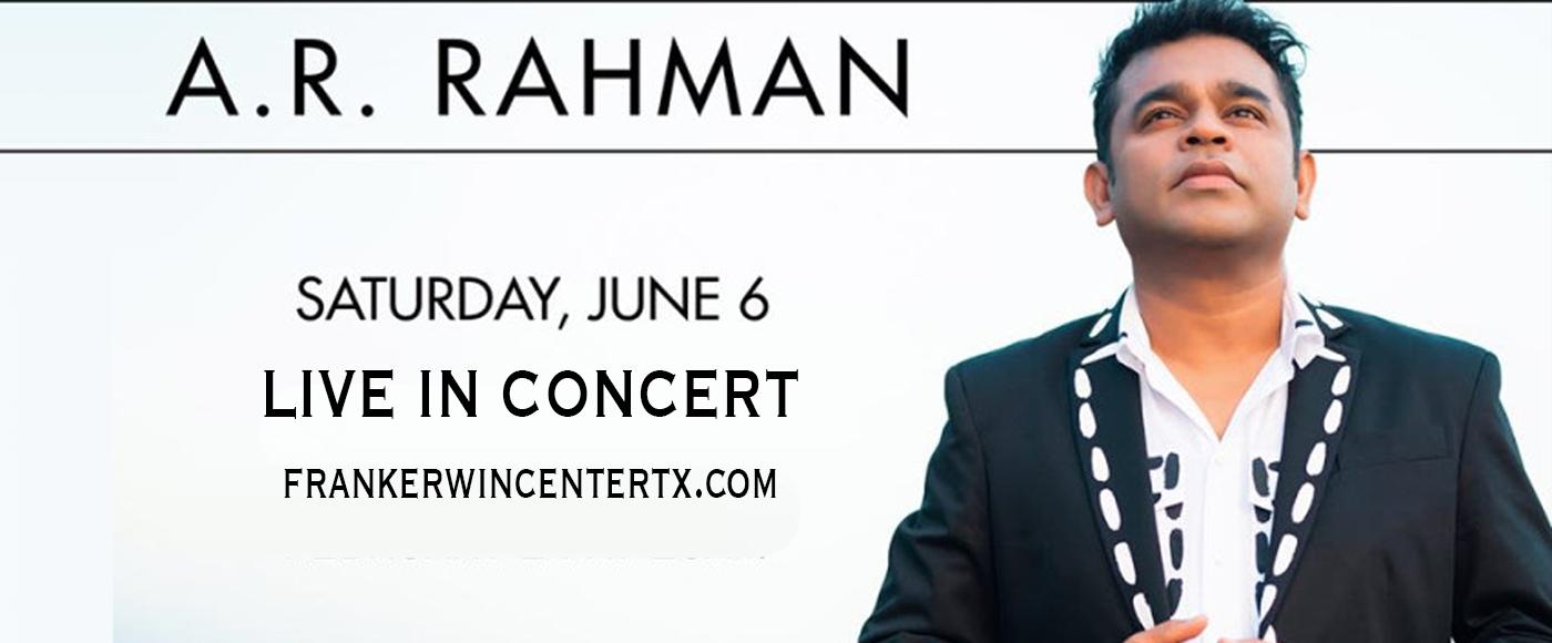 A.R. Rahman [POSTPONED] at Frank Erwin Center