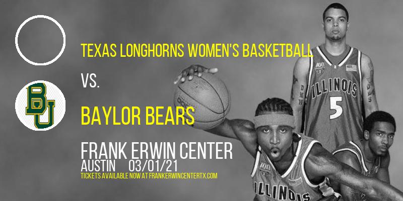 Texas Longhorns Women's Basketball vs. Baylor Bears at Frank Erwin Center